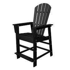 Resin Patio Chairs Black Resin Patio Chairs Shop Polywood Classic Adirondack Black
