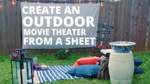 Backyard Movie Theatre by Diy Outdoor Movie Theater Video Hgtv