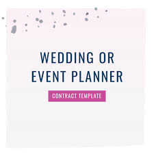 wedding planner contracts wedding industry the contract shop
