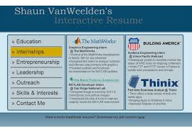 Interactive Resume Examples by Interactive Resume 17555