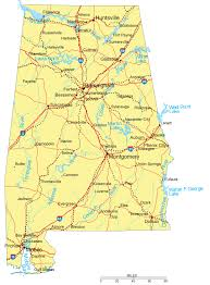 cities map alabama maps and atlases throughout map of with major