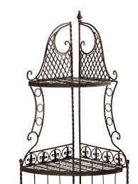 eckregal 20 x 20 regal eckregal eisen garten gartenregal braun 165cm antik stil
