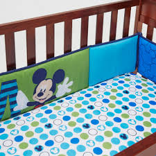 Mickey Mouse Crib Bedding Sets Disney Secure Me Crib Bumper Pads Mickey Mouse