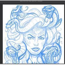 image gallery medusa sketch