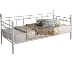 Single Metal Day Bed Frame Buy Collection Abigail Single Metal Day Bed Frame White At Argos
