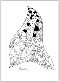 free coloring coloring zentangle simple claudia 2