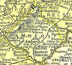 amherst map raymond d shasteen genealogy maps virginia shasteen locations