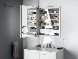 Medicine Cabinet With Electrical Outlet K 99007 Tl Verdera Lighted Medicine Cabinet 24