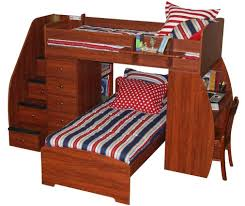 Cherry Wood Desk Home Design 89 Cool Bunk Bed With Stairs And Drawerss