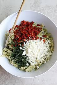 pasta salad pesto belle vie creamy pesto sundried tomato pasta salad belle vie