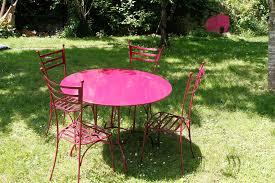 table de jardin fermob soldes mobilier jardin fer table et chaise de jardin solde maisonjoffrois