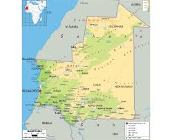 Map Of Mali Maps Of Mauritania Detailed Map Of Mauritania In English