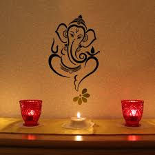 a lovely ganesha to adorn your wall the decal covers 2 ft height buy floral ganesha wall decal black online latest floral ganesha wall decal black by walldesign