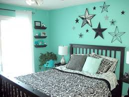 teal black and white bedroom for molly if we get that house