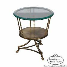 Glass Top Side Table Brass Side Table Ebay