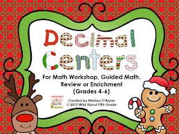 decimal math activities for the week before christmas break and a
