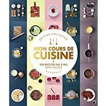 livre cours de cuisine amazon fr mon cours de cuisine marabout livres
