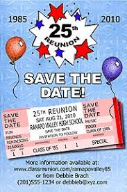 50th high school reunion souvenirs tickets class reunion save the date cards are personalized with
