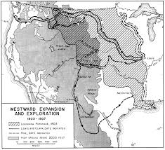 map us expansion westward expansion in united states 1803 1807 historical map