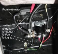 how to bridge contacts on starter relay to make starter turn