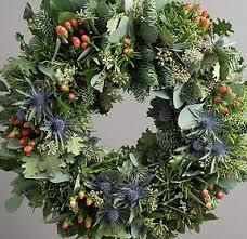 fresh christmas wreaths door wreath roses mills in bloom florist 01962 861999