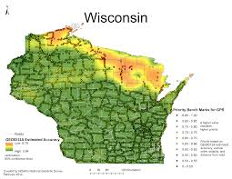 Wisconsin Map Usa National Geodetic Survey 2014 Gps On Bench Marks Campaign