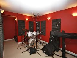 small music studio minimalist home music studio with red paint colors for small