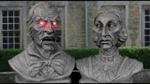 interactive victorian couple bust set halloween decorations