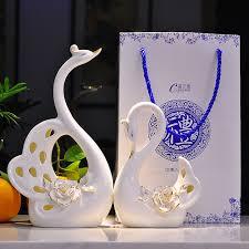 wedding gift ornaments aliexpress buy creative ceramic swan wedding gift