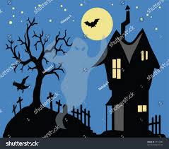 halloween ghost house vector stock vector 19112887 shutterstock