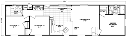 Floor Plans For Mobile Homes Single Wide Premont 16 X 60 937 Sqft Mobile Home Factory Select Homes