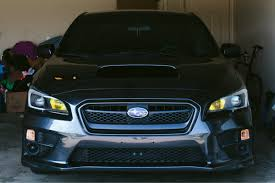 yellow subaru wrx 2015 wrx painted headlights subaru