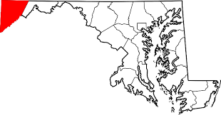 maryland map by county outline file map of maryland highlighting garrett county svg wikimedia