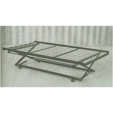 Wood Daybed With Pop Up Trundle Wood Twin Pop Up Trundle Bed Frame Decofurnish