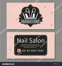 beauty manicure nail salon cute business stock vector 411215623