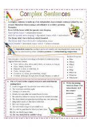complex sentences with subordinators and relative pronouns