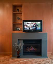 Tv On Wall Ideas by Decorating Fireplace Surround Ideas With Modern Block Concrete