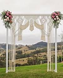 wedding backdrop gold coast boho beauty macrame arch by kara beautiful weddings gold coast