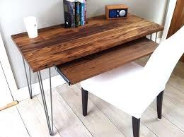 Modern Industrial Desk Desk Desk Pull Out Writing Shelf Modern Industrial Desk With