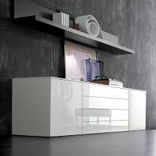 White Gloss Sideboards Space White Large High Gloss Sideboard 240cm