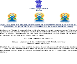 Sponsorship Letter For Sports Event Embassy Of India Doha Qatar