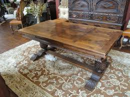 Antique Oak Dining Tables 19th Century Oak Trestle Draw Leaf Dining Table For Sale