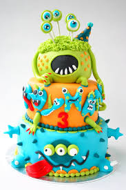 Halloween Monster Cake by Awesome Monster Cake Boys Party Birthday Kids Will Have To