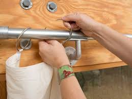 make curtain rings images Diy window curtains from canvas or dropcloth diy network blog jpg