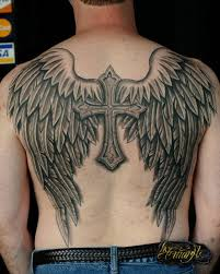 wings with cross design on back