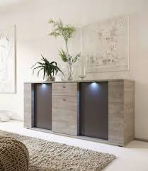 Sideboard Modern Italian Contemporary Sideboard Buffet With Led Lights Santa Ana