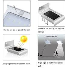 Bedroom Wall Lights With Pull Cord Uk Powerbee Wave Solar Motion Sensor Light 16 Smd Outdoor Pir