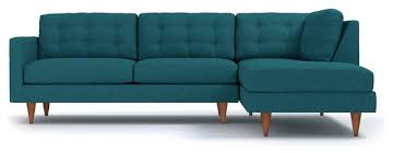Turquoise Sectional Sofa Logan 2 Piece Sectional Sofa Midcentury Sectional Sofas By Apt2b
