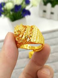 dragon rings gold images Men 24k gold plated dragon ring tomade jpg