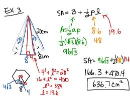 Area Formula by Showme Surface Area Rectangular Pyramid